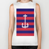 anchor Biker Tanks featuring anchor by gzm_guvenc