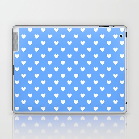 Hearts on Sky Blue by colorpopdesign