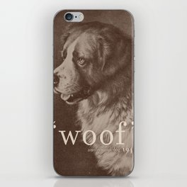Famous Quotes #1 (anonymous dog, 1941) iPhone Skin