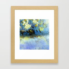 Bright Blue and Golden Pond Framed Art Print