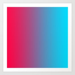 Pink and Sky-Blue Gradient 010 Art Print