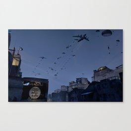 Airborne wake up call! Canvas Print