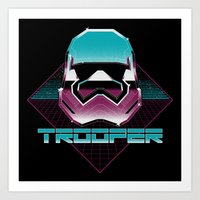 trooper Art Prints featuring TROOPER by MEKAZOO
