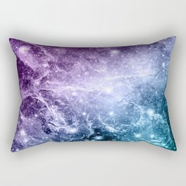 Purple Teal Galaxy Nebula Dream #4 #decor #art #society6 Rectangular Pillow