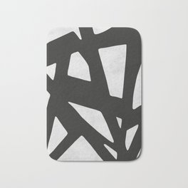 Black Expressionism IV Bath Mat