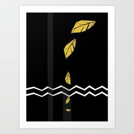 Meraki Fall [Gold Noir] Art Print