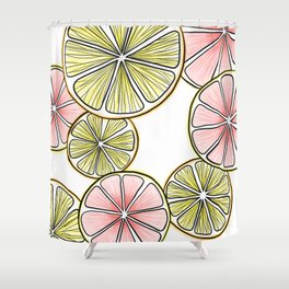 Oranges and Grapefruits Shower Curtain