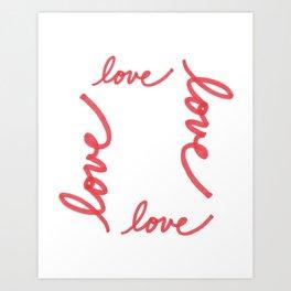 Love Makes The World Go 'Round Art Print