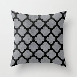 silver and black clover Throw Pillow