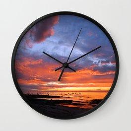 Stunning Seaside Sunset Wall Clock