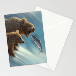 Brown Bears - Fishing Lesson Stationery Cards