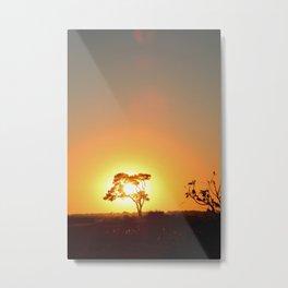 Sunset on the African Savanna Metal Print