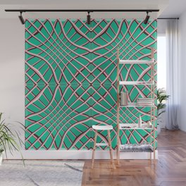 Grids and Grooves Wall Mural