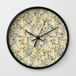 Cute Rabbit Pattern Wall Clock