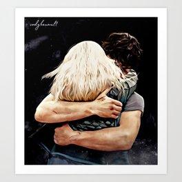 Bellarke hug - painting Art Print