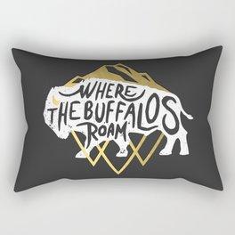 Where the Buffalos Roam Rectangular Pillow
