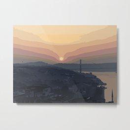 Bosphorus Bridge, Sunset Metal Print