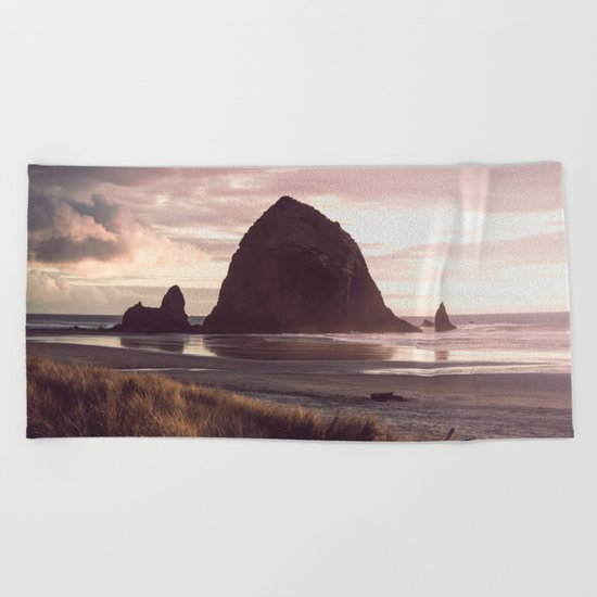 Cannon Beach Sunset Beach Towel