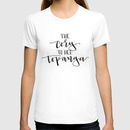 The Cory to her Topanga T-shirt