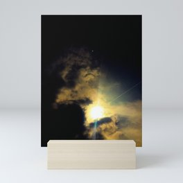 Cloud Dragon holding the sun Mini Art Print
