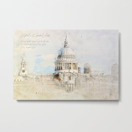 St. Pauls Cathedral,  London England Metal Print