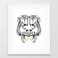 calligraphy Framed Art Prints featuring Calligraphy  by Dana Asady