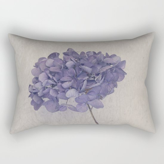 Dried Blue Hydrangea II Rectangular Pillow
