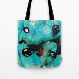 Aqua Teal Art - Volley - Sharon Cummings Tote Bag