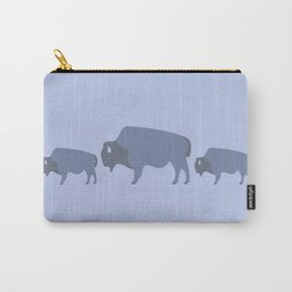 Bison And Baby (Tide) Carry-All Pouch