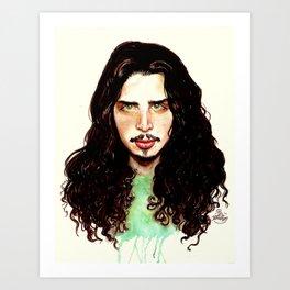 Fell on Black Days- A portrait by Indigo East Art Print
