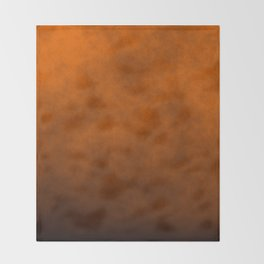 Dark Pumpkin Orange Haunted Harvest Corn Field Fog Throw Blanket