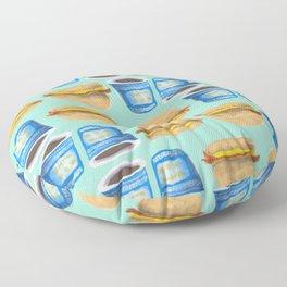 NYC Breakfast Floor Pillow