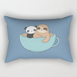 Kawaii Cute Panda and Sloth Rectangular Pillow