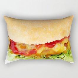 Hamburger Rectangular Pillow