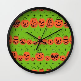 Trick or Treat Smell My Feet- Green Wall Clock