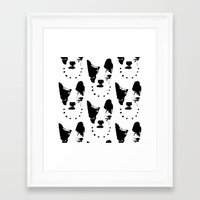 frenchie Framed Art Prints featuring Frenchie! by oma!