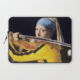 "Vermeer's ""Girl with a Pearl Earring"" & Kill Bill Laptop Sleeve"
