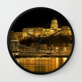 Budapest Golden Night Wall Clock