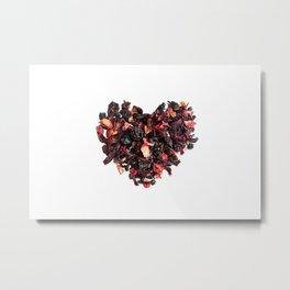 petals tea formed in heart shape Metal Print