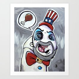 Howdy Folks, Capt Spaulding, Devils Rejects, House of 1,000 Courpses, Sid Haig Art Print