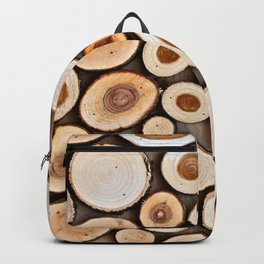 Abstract Art Of Wooden Disks Backpack