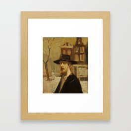 ISAAC ISRAELS (dutch 1856-1934) RABBI IN AMSTERDAM Framed Art Print