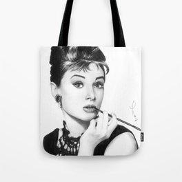 Audrey Hepburn Pencil drawing Tote Bag