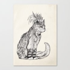 Witch Cat | Graphite Canvas Print