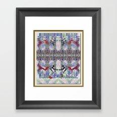 Mermaids in their Garden Framed Art Print