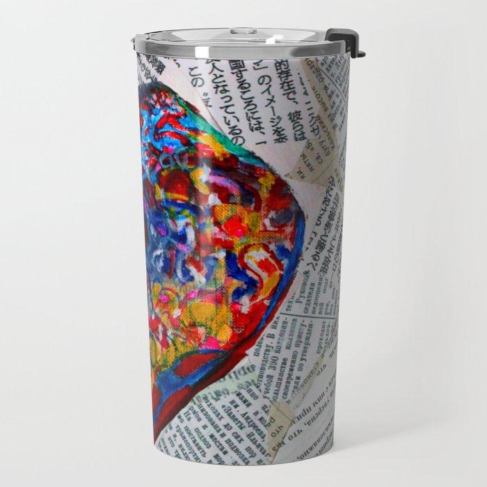 YIN YANG WORDS #society6 #decor #buyart Travel Mug