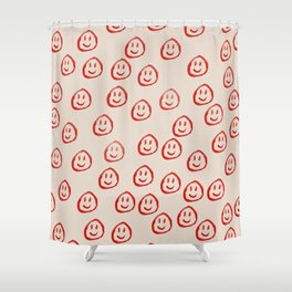 Happy Faces Shower Curtain
