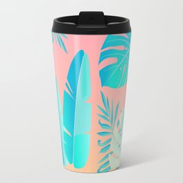 Tropics ( monstera and banana leaf pattern ) Travel Mug