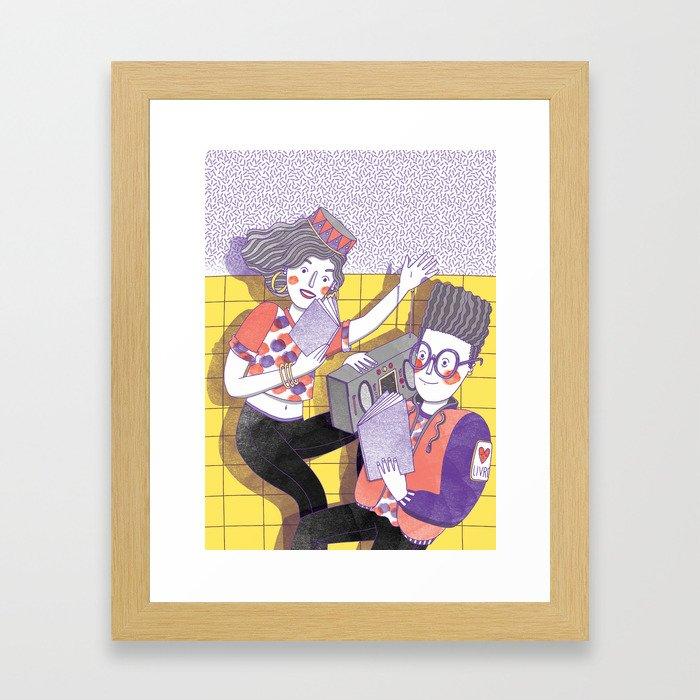 Reading Battle Framed Art Print