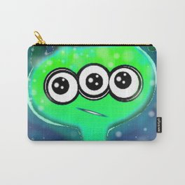 Cute Green Alien in Space Carry-All Pouch